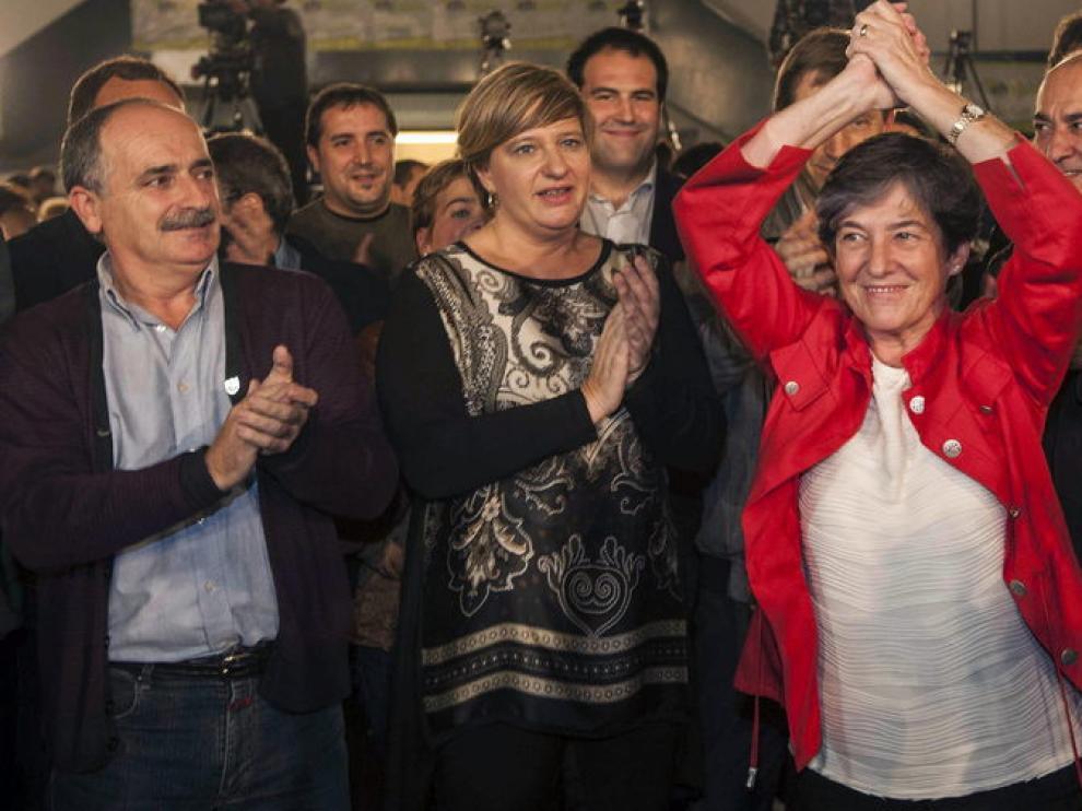 Los líderes de Bildu celebran la victoria