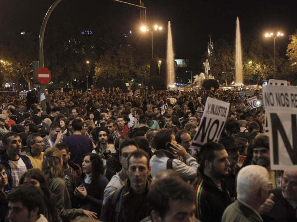 Imagen de este martes de la plaza de Neptuno de Madrid