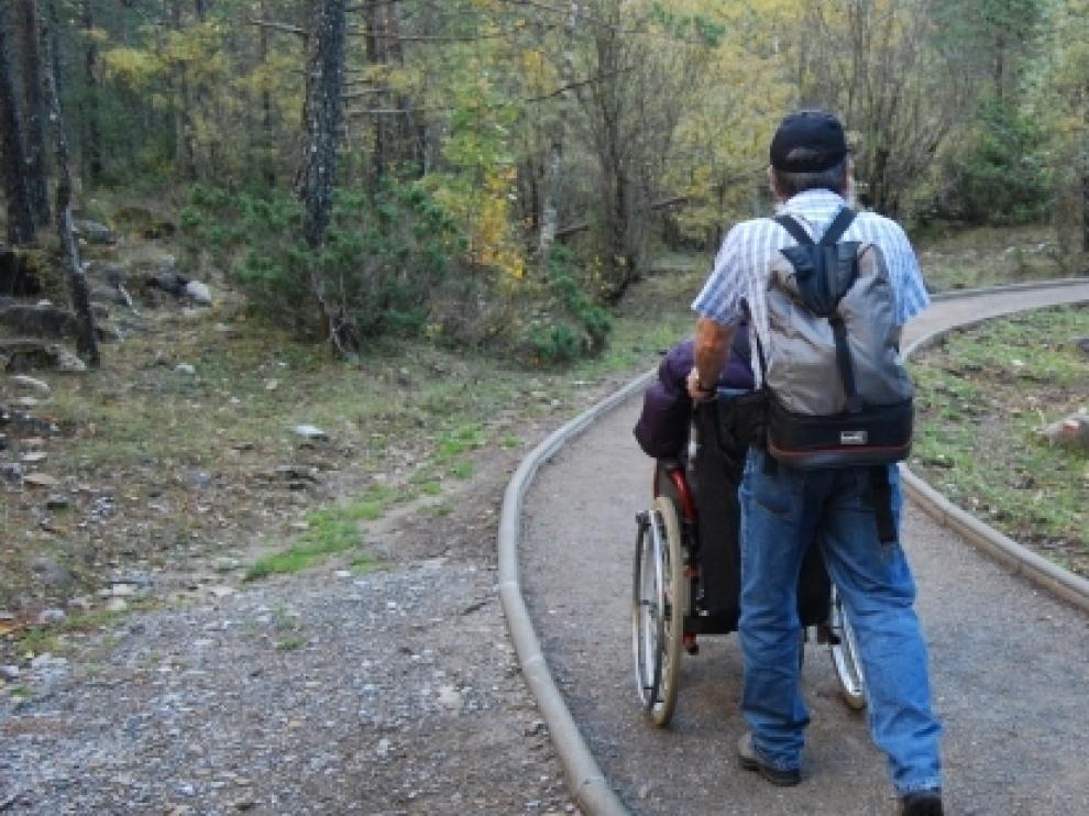 Sendero accesible en el Parque Nacional de Ordesa y Monte Perdido.