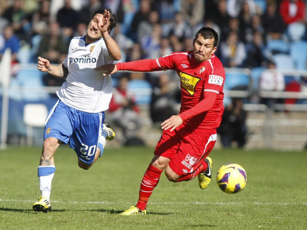 Partido de Liga entre el Real Zaragoza y el Sevilla