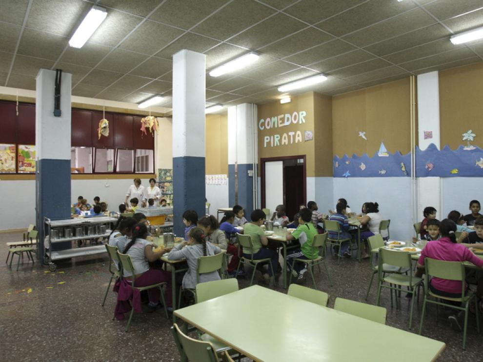 Comedor escolar en Zaragoza