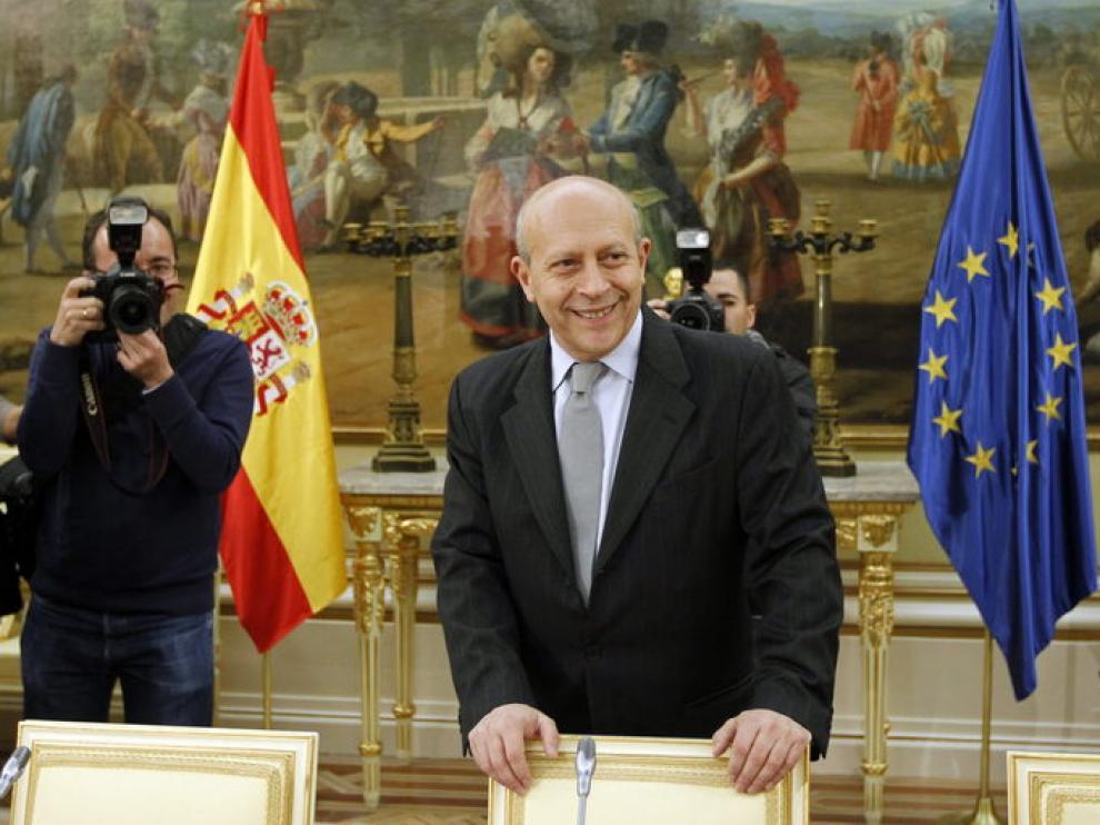 El ministro de Educación, Cultura y Deporte, José Ignacio Wert