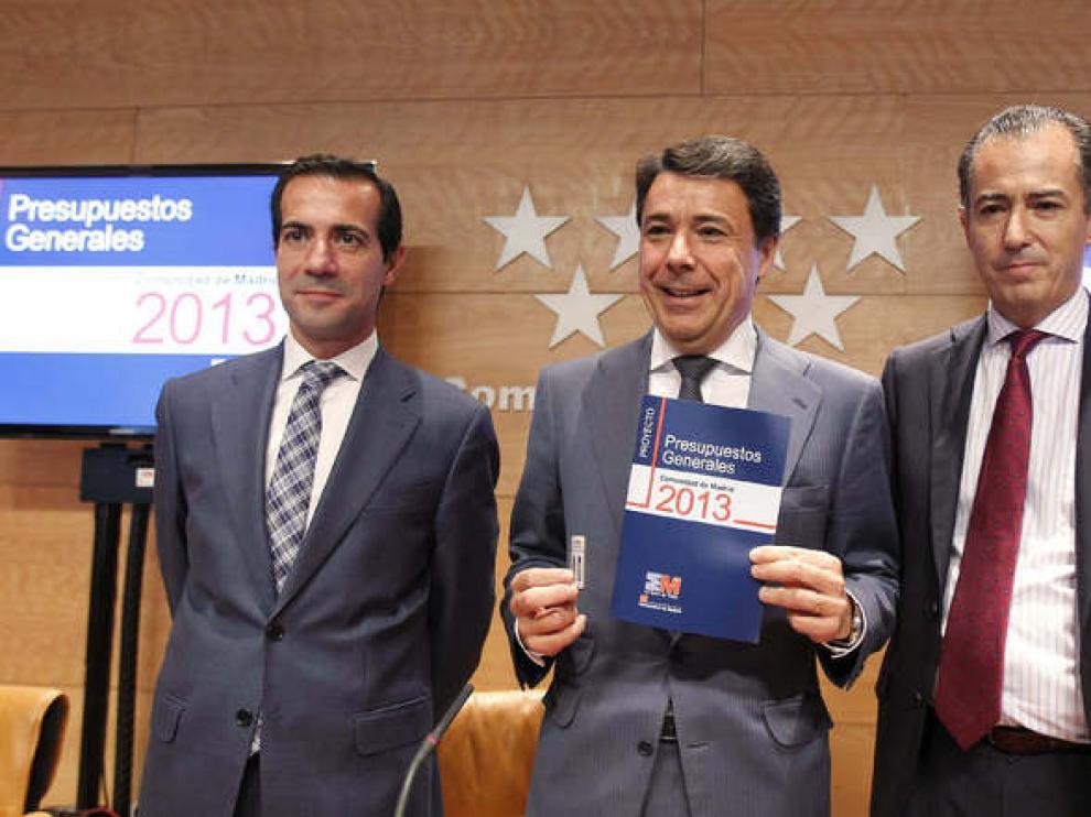 Ignacio González en la presentación de los presupuestos regionales para 2013.