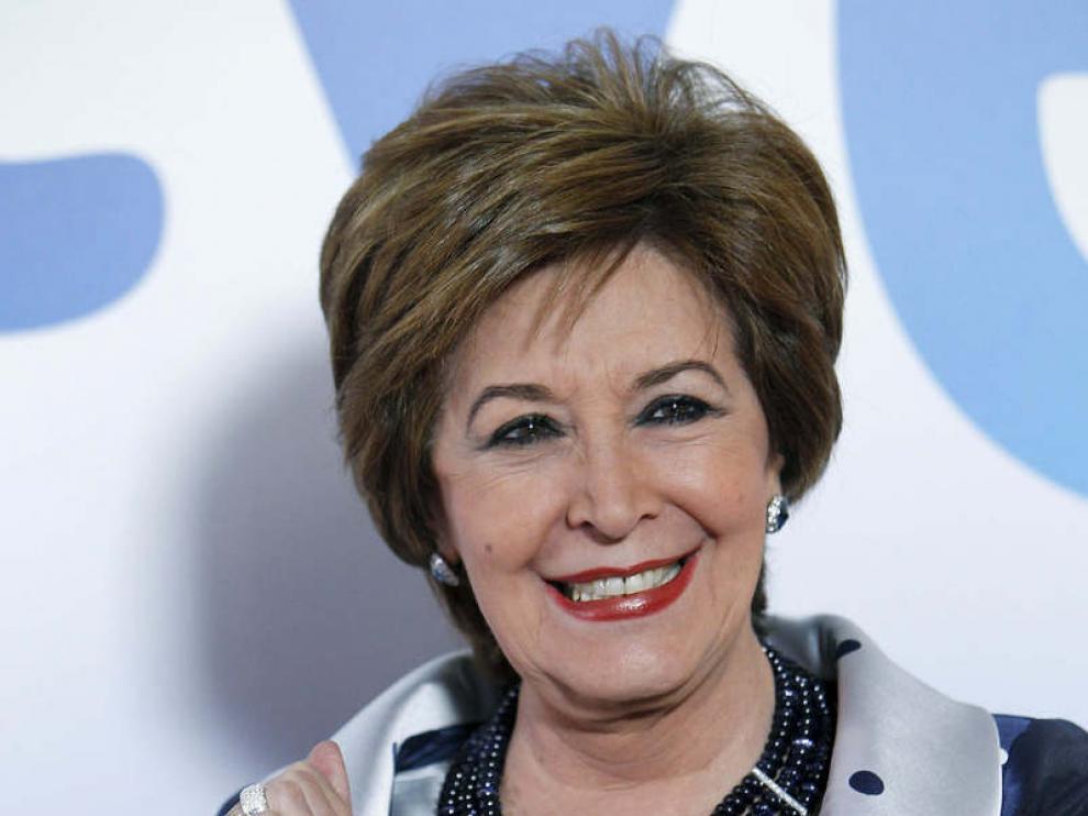 La actriz galardonada por su actuación en 'Gran Hotel', Concha Velasco.