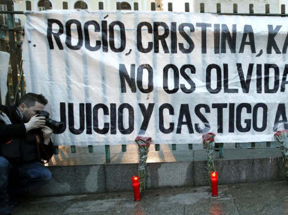 Concentración por las víctimas del Madrid Arena