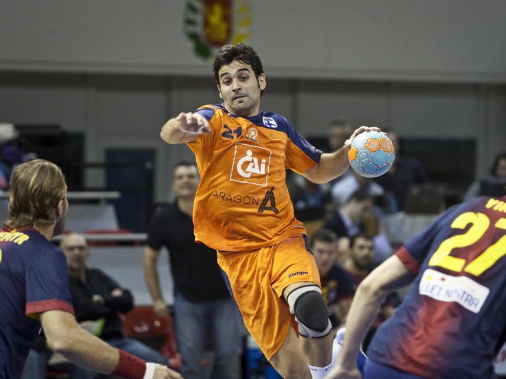 Encuentro disputado entre el BM Aragón y el F.C Barcelona