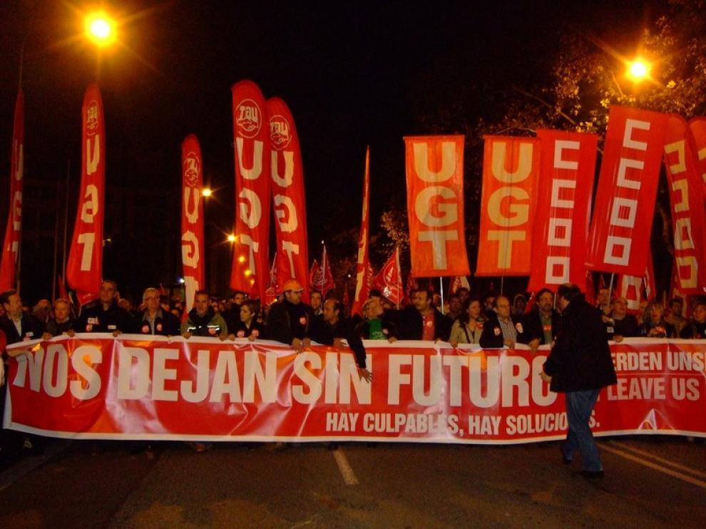 Huelga general en Zaragoza