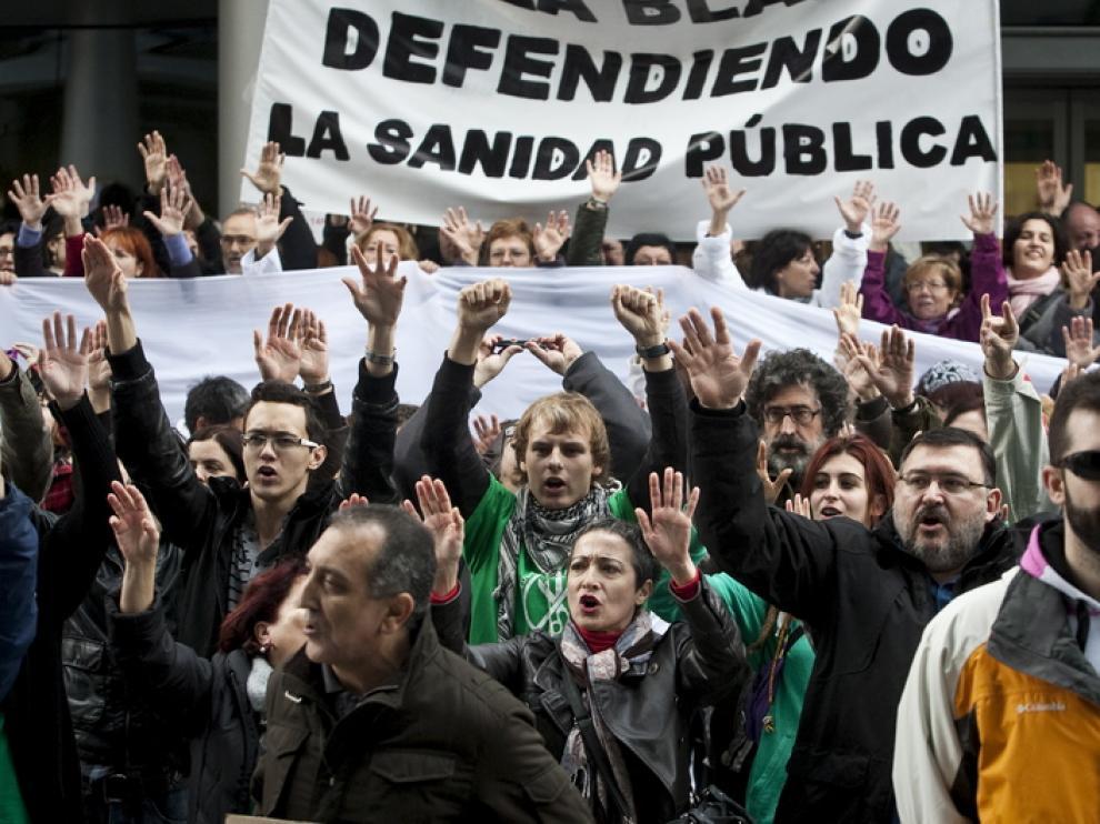 La Marea Blanca, por la Sanidad en Aragón