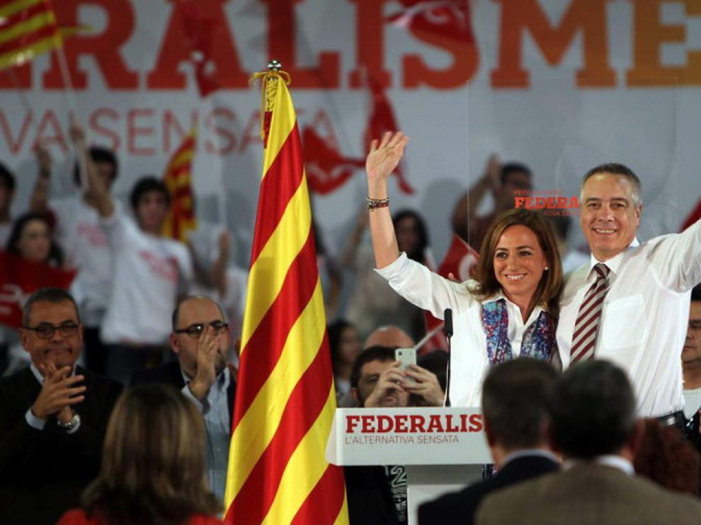 """Carme Chacón ha pedido  votar para demostrar que Cataluña es un """"país decente"""""""