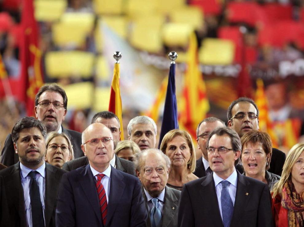 Artur Mas cierra la campaña de CiU en el Palau San Jordi.