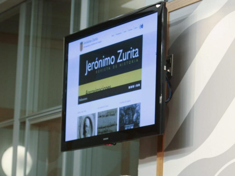 Presentación de la página web, este viernes en Zaragoza