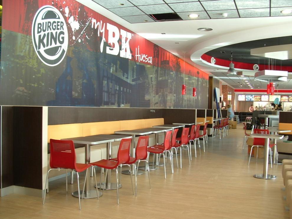 Interior del Burger King en Huesca