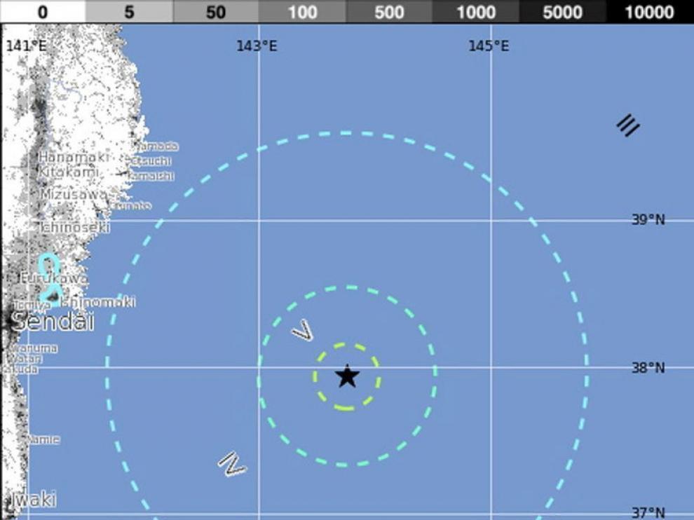 El epicentro del seísmo estuvo en el Oceano Pacífico
