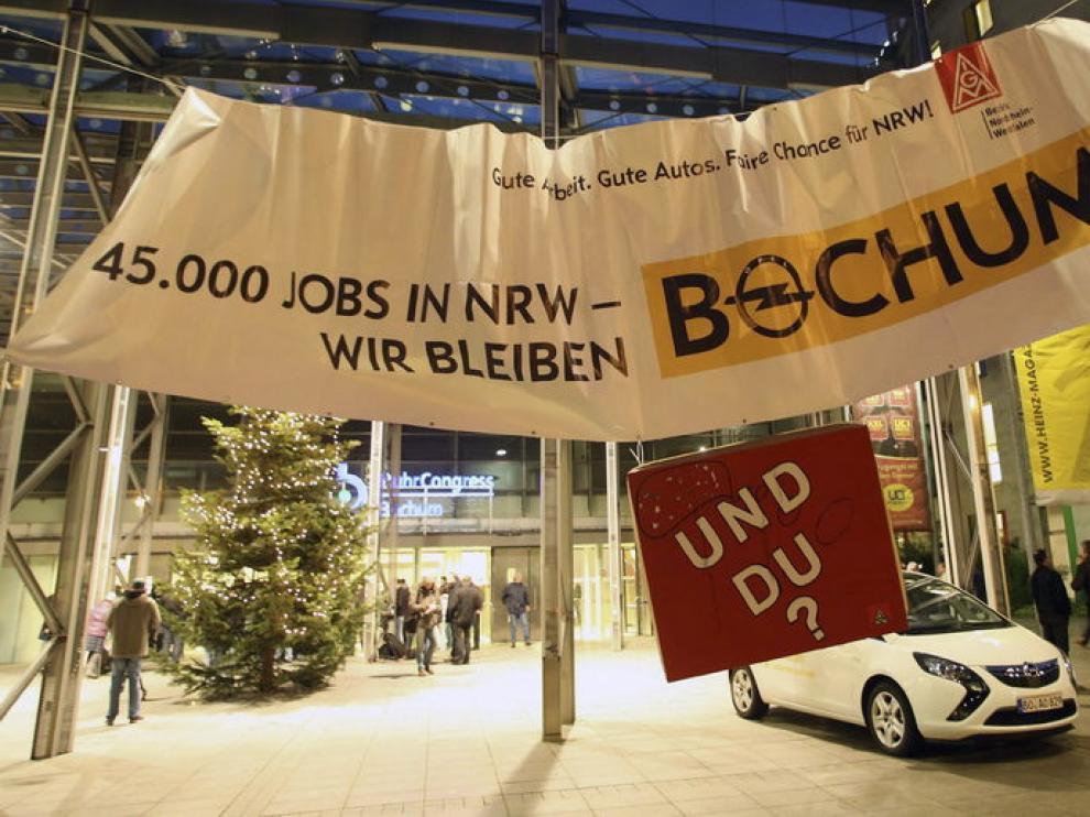 Protesta por el cierre de la fábrica de Bochum