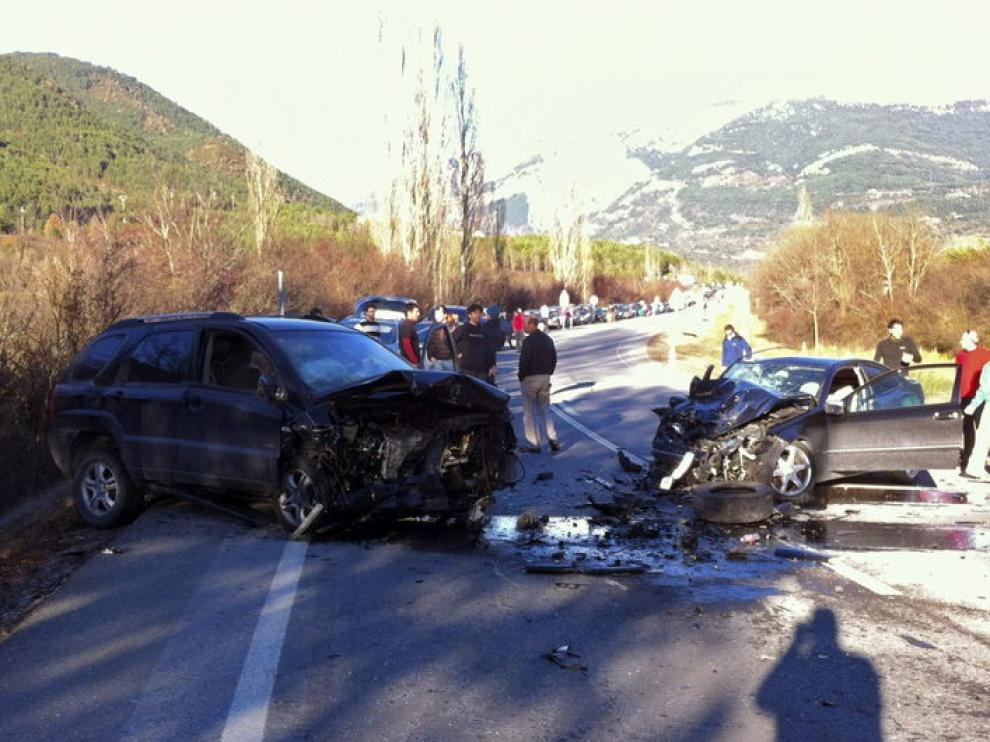Imagen del accidente en la N-330