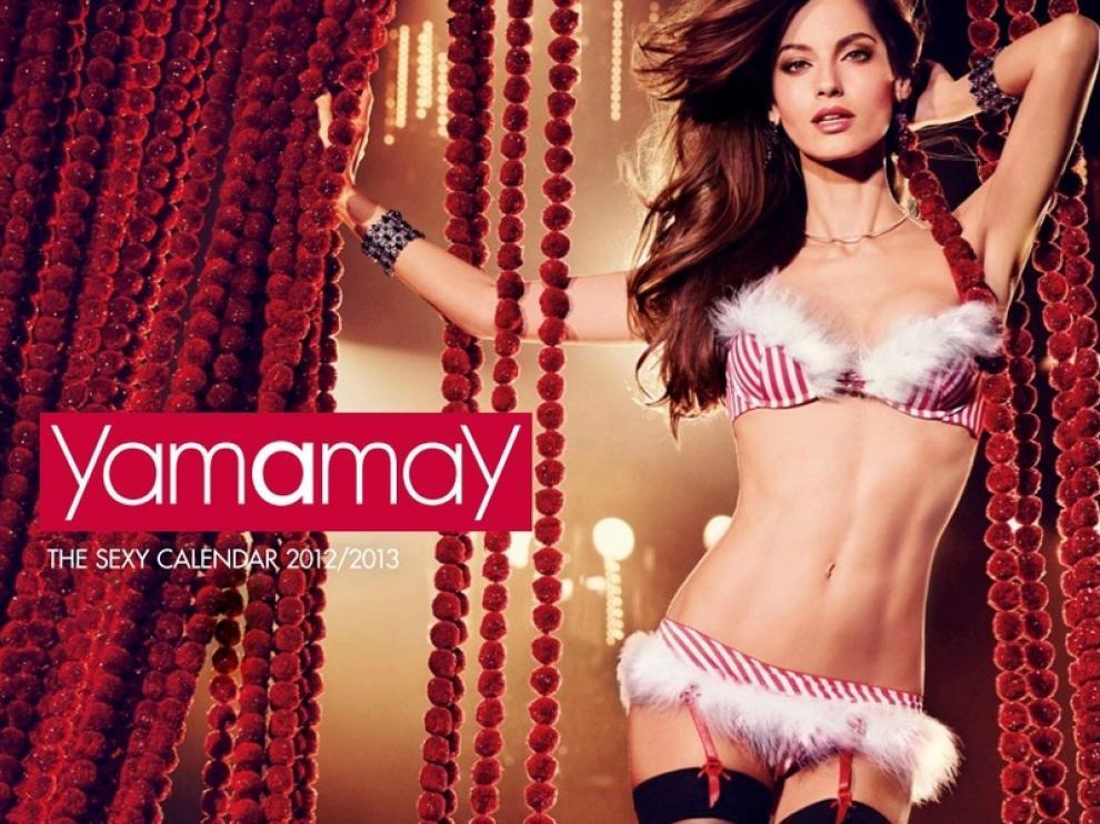 La modelo Ariadne Artiles, portada del calendario de Yamamay.