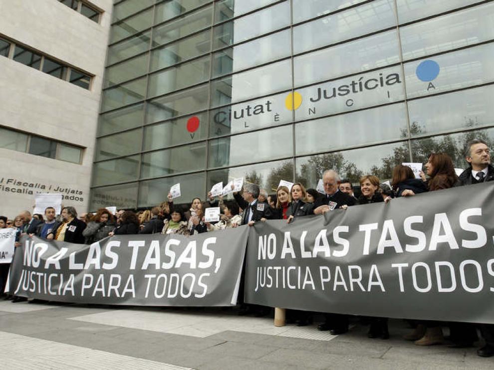 Paro en la Ciudad de la Justicia de Valencia el pasado miércoles