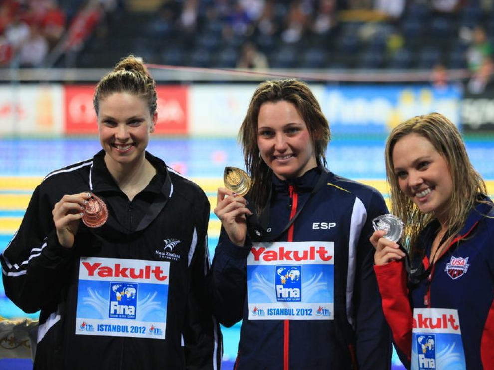 La española Melanie Costa, oro en la prueba de 400 libres.