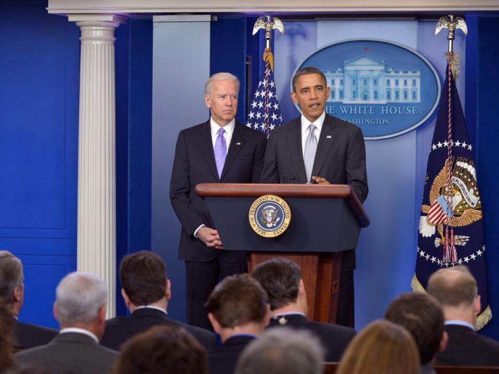Obama y Biden en la Casa Blanca