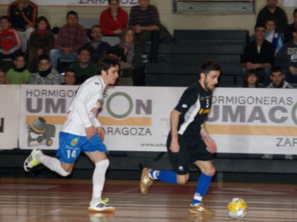El Umacón, en un encuentro contra el Azkar Lugo la temporada pasada.