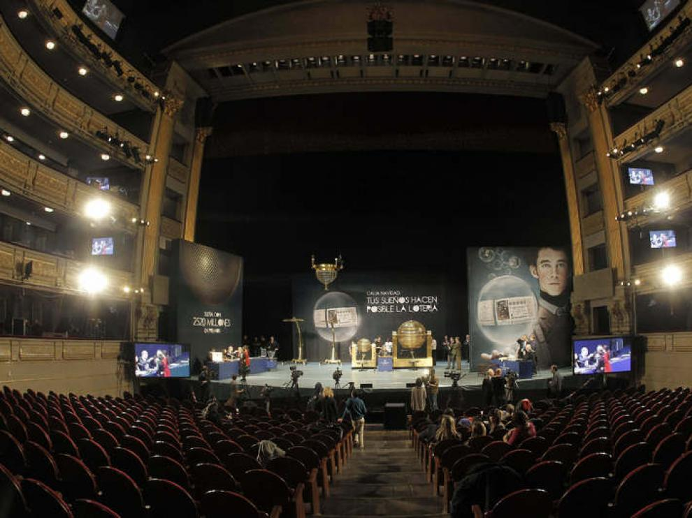 Teatro Real, donde se celebra el Sorteo de la Lotería de Navidad 2012