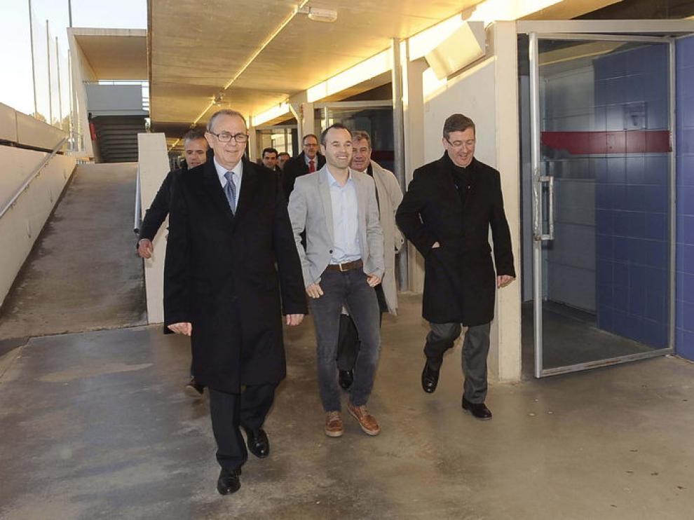 Iniesta ha visitado la ciudad deportiva del Albacete que ahora lleva su nombre