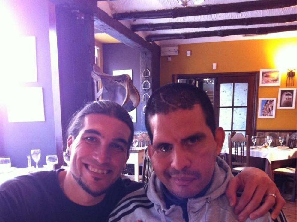 Pinto se desplaza a Zaragoza para visitar a su amigo Fernando Cáceres