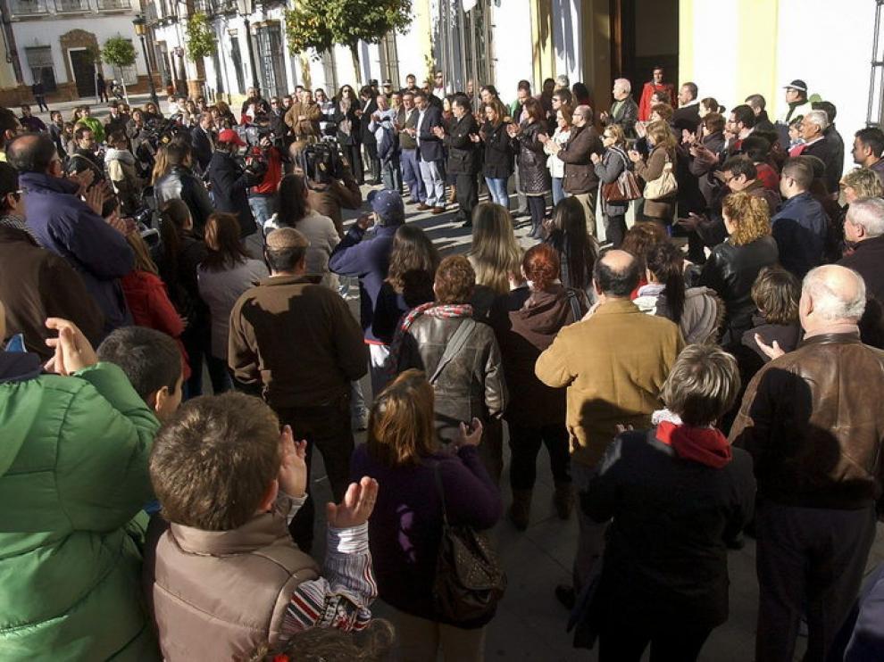 Concentración en La Palma del Condado, el viernes