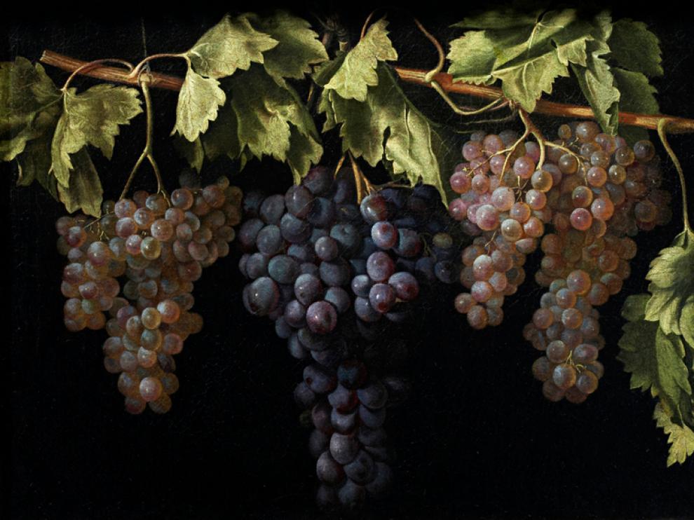 Bodegón con cuatro racimos de uvas, Juan Fernández ''el Labrador''