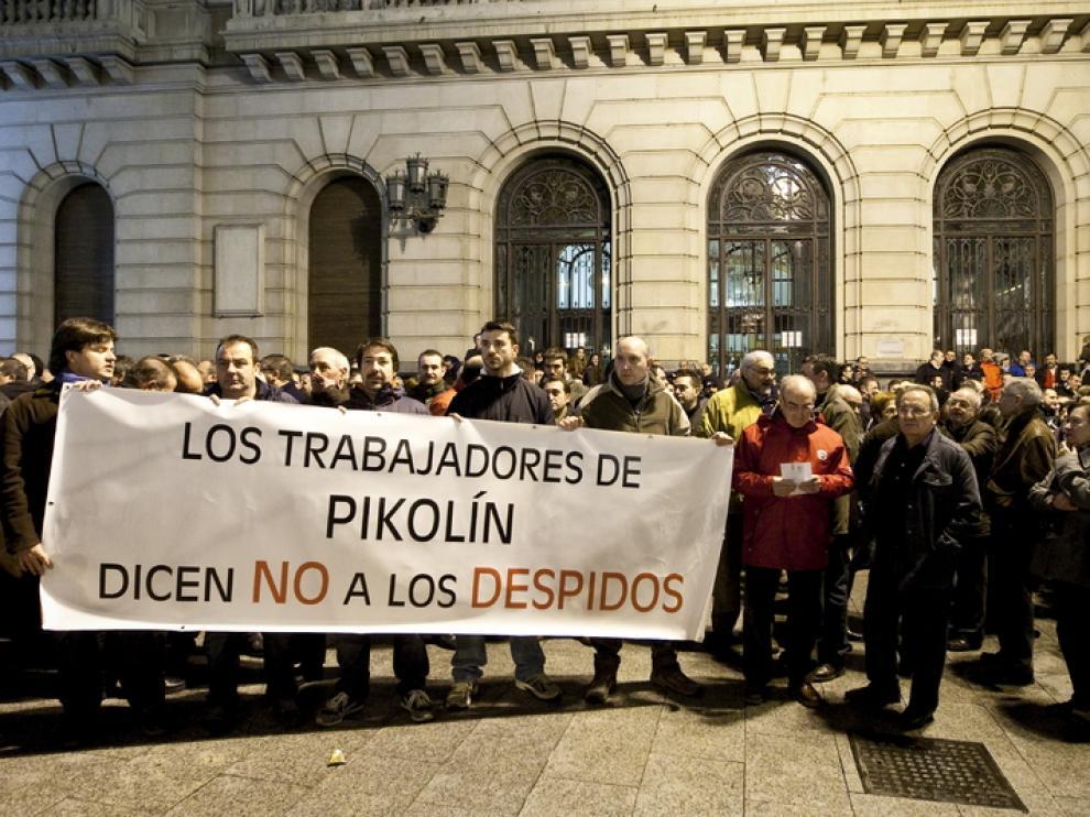 Protesta de los trabajadores de Pikolín