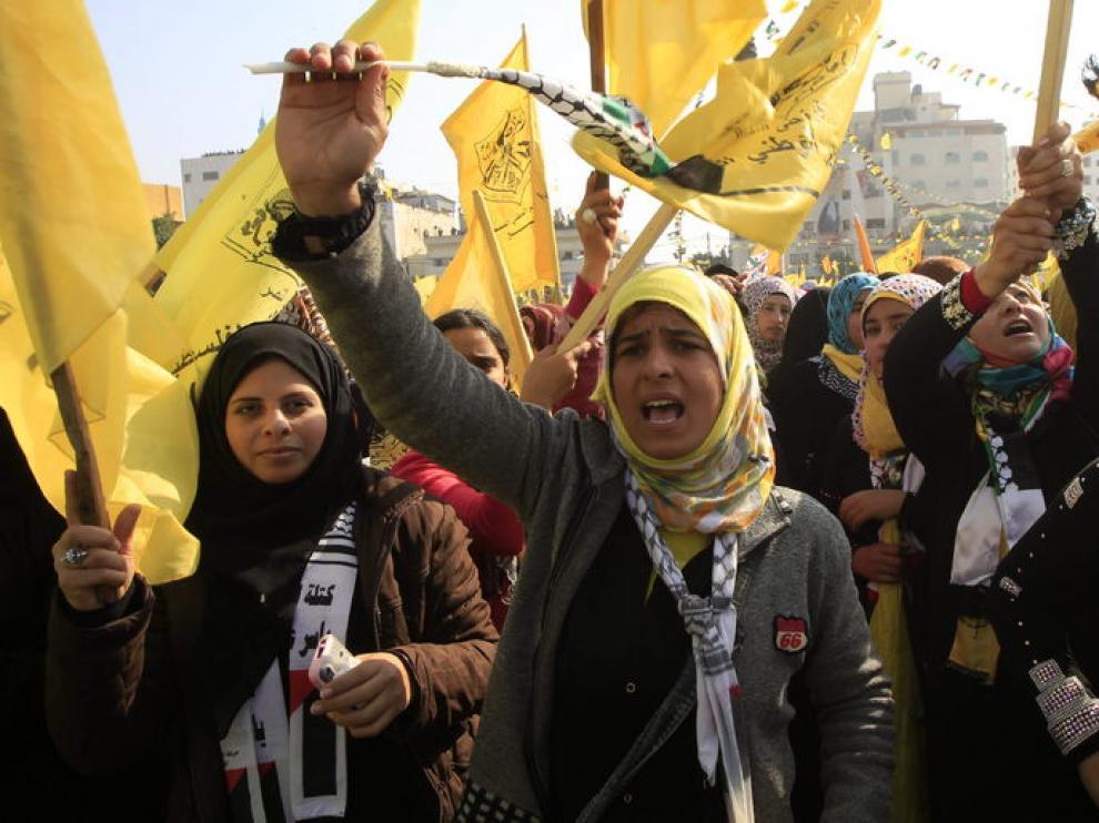 Esta ha sido la primera celebración de Al Fatah en la franja desde 2007.