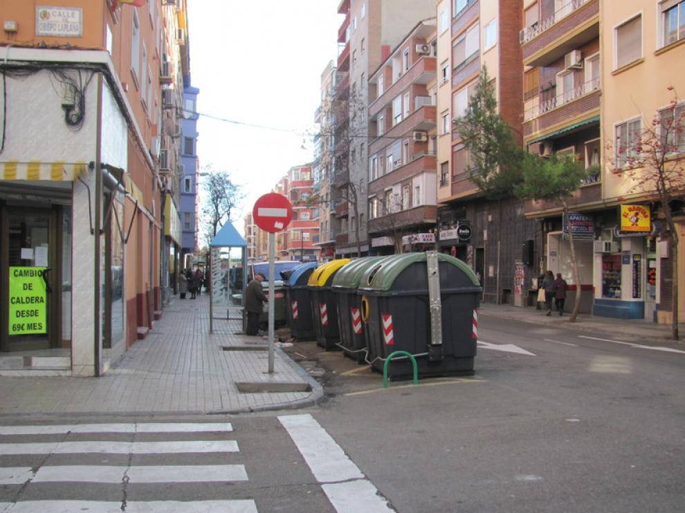 Contenedores de la calle Rodrigo Rebolledo