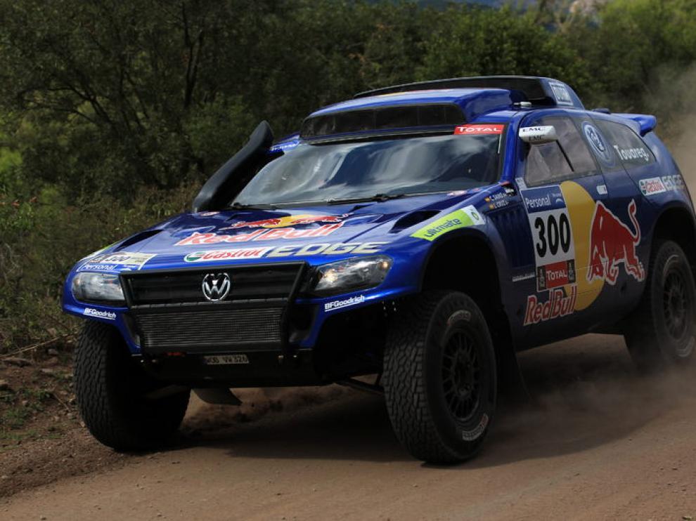 El vehículo de Carlos Sáinz, durante la pasada edición del Dakar