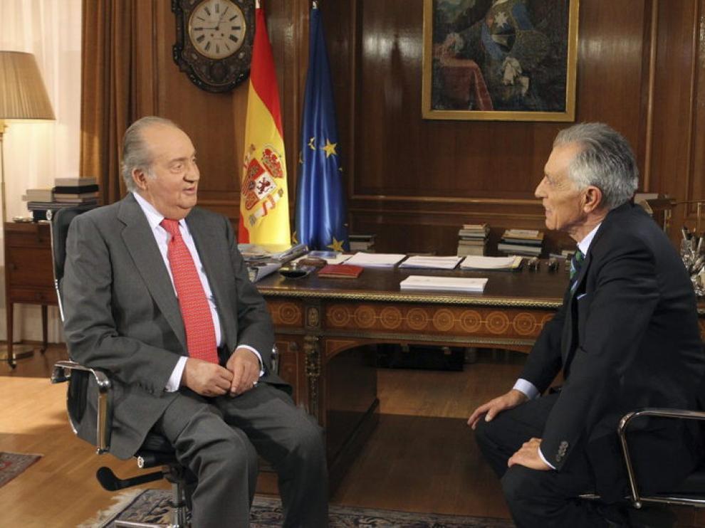 Don Juan Carlos ha sido entrevistado por el veterano Jesús Hermida