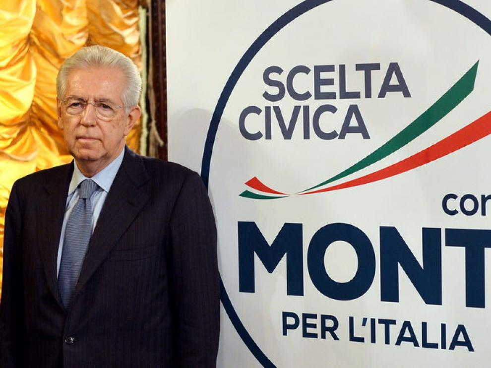 Monti junto al logo de su nueva lista para la Cámara Baja