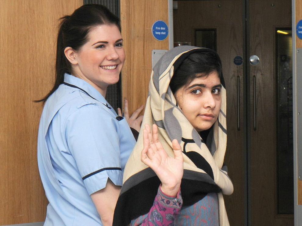 Malala a su salida del hospital londinense