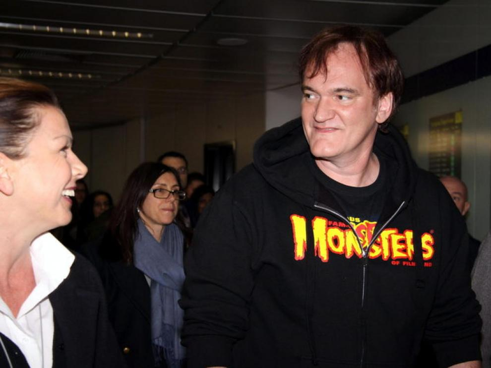 Quentin Tarantino presenta este viernes en Roma su nueva película, 'Django desencadenado'.