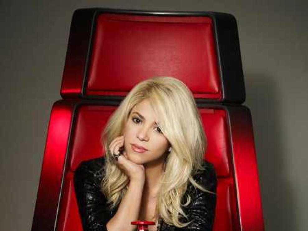 Shakira en su 'silla' en 'The Voice'