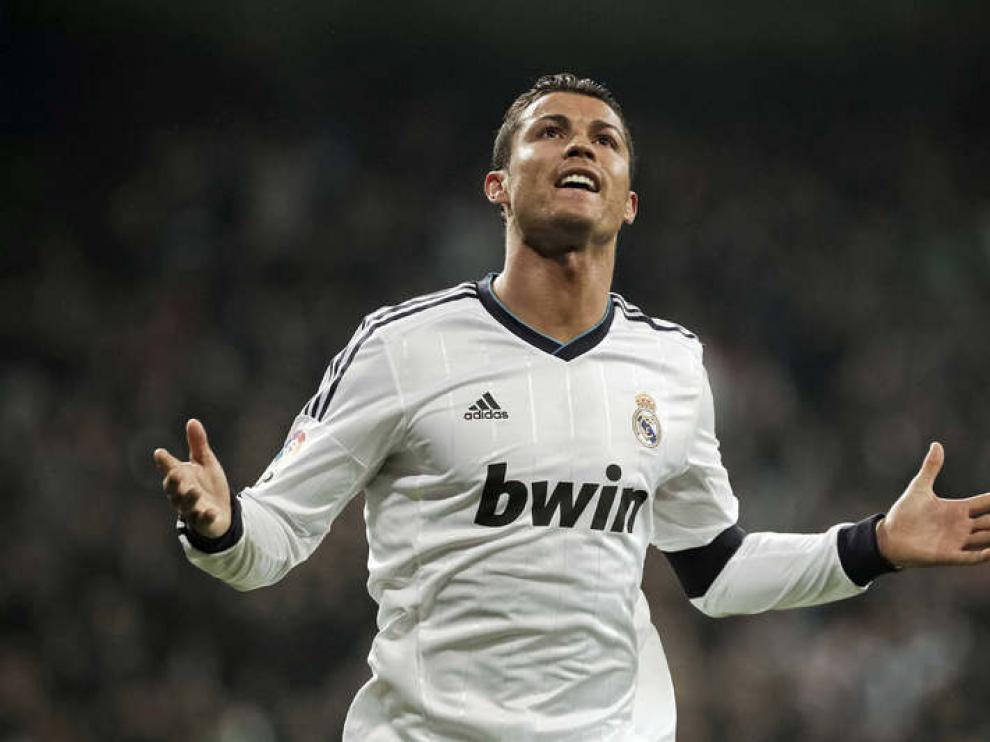 Cristiano Ronaldo celebra un gol en el Bernabéu