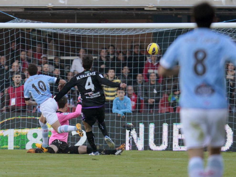 Iago Aspas marca el primer gol del Celta