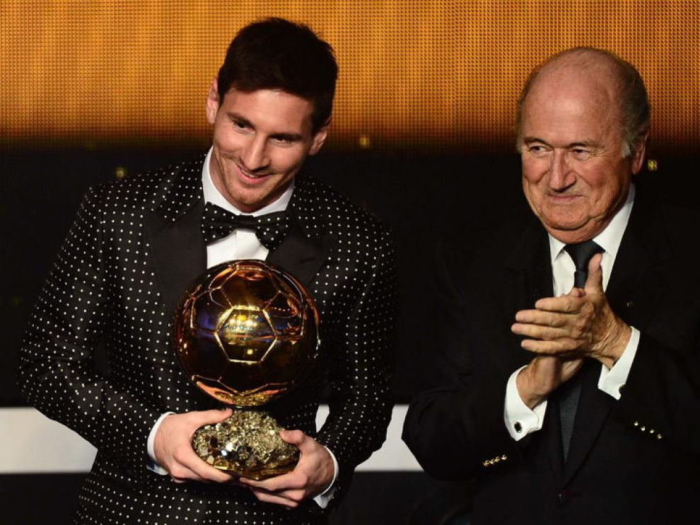 Messi, junto a Blatter