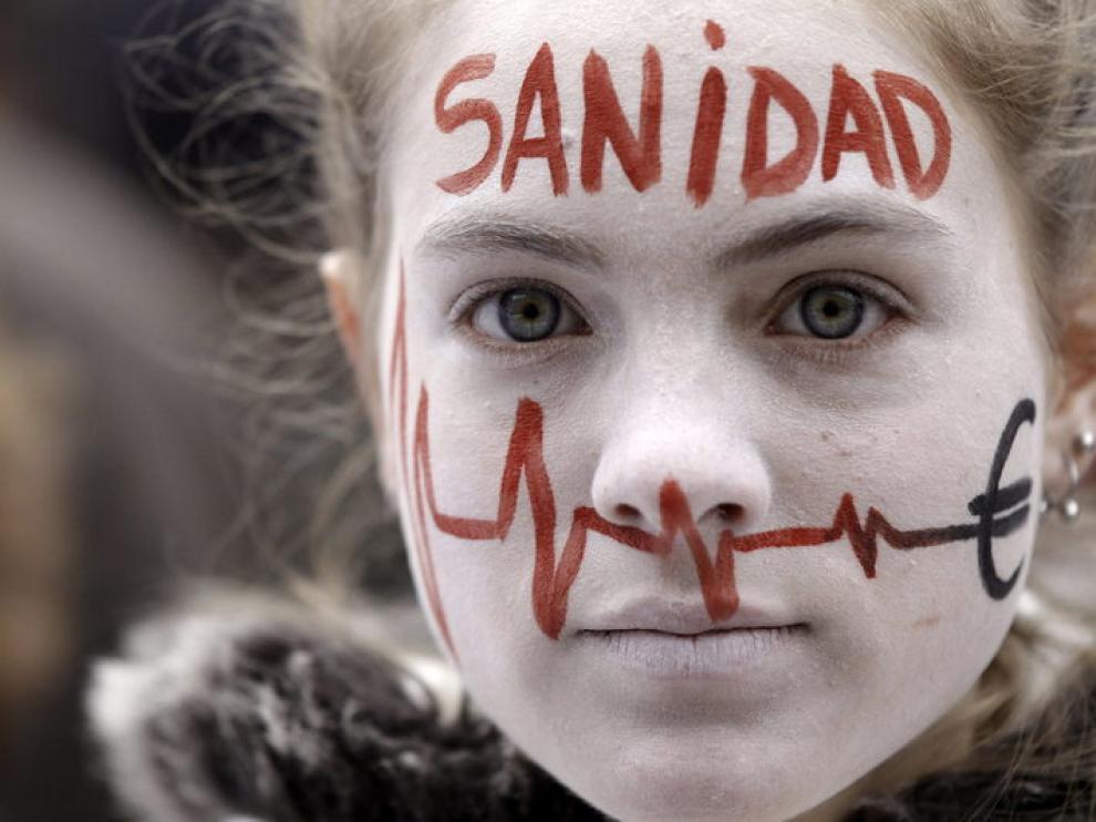 Protsta por la privatización sanitaria en Madrid