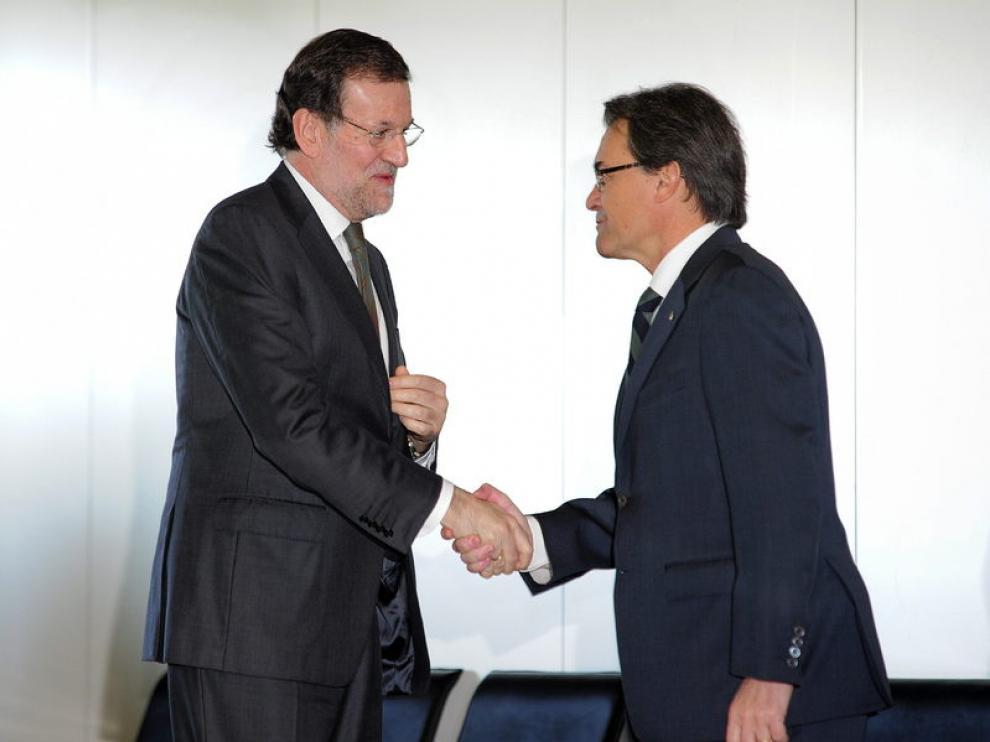 Rajoy y Mas (Archivo)