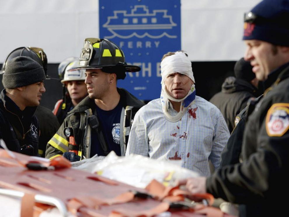 Al menos 11 personas han resultado heridas tras producirse la colisión.