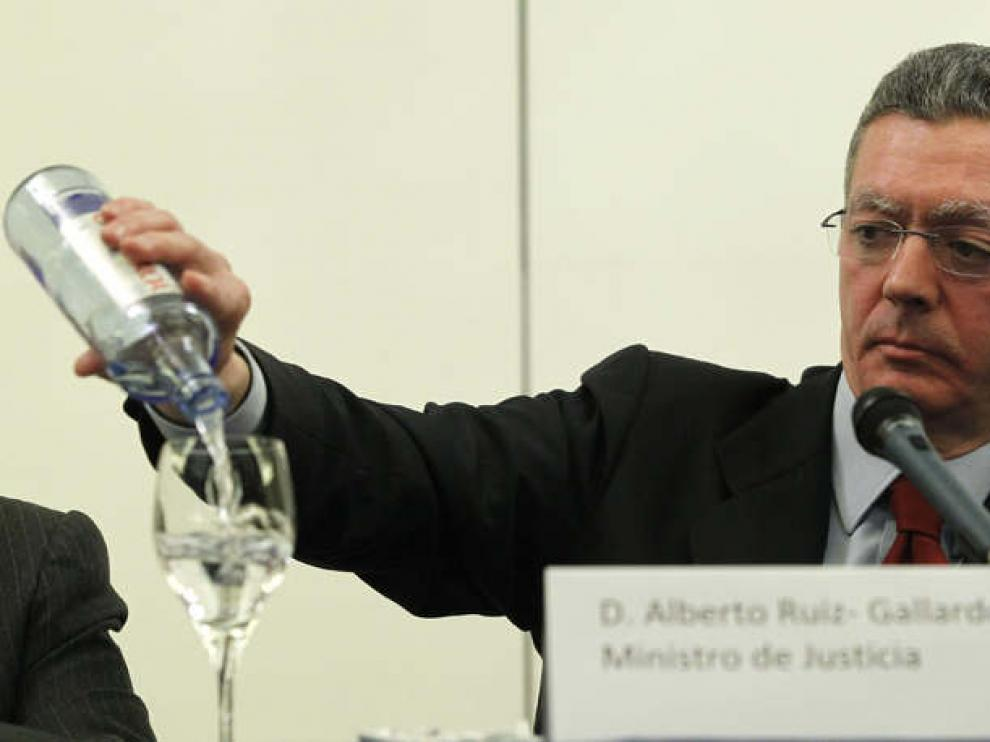 El ministro de Justicia, Alberto Ruiz-Gallardón