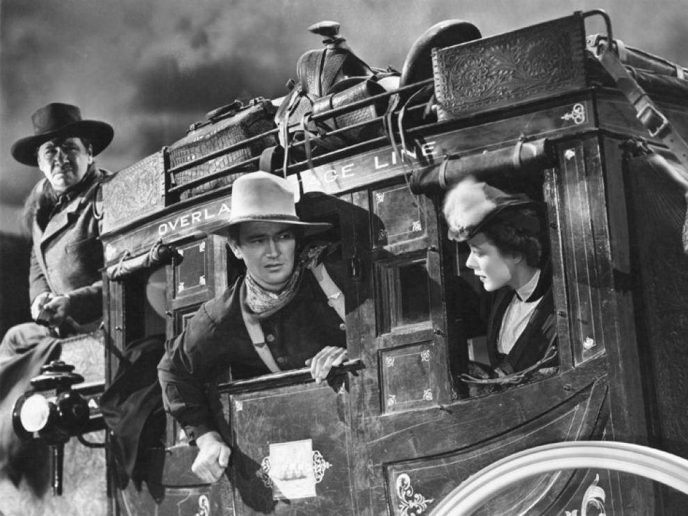 Fotograma de la película 'La diligencia', que hoy emite ZTV