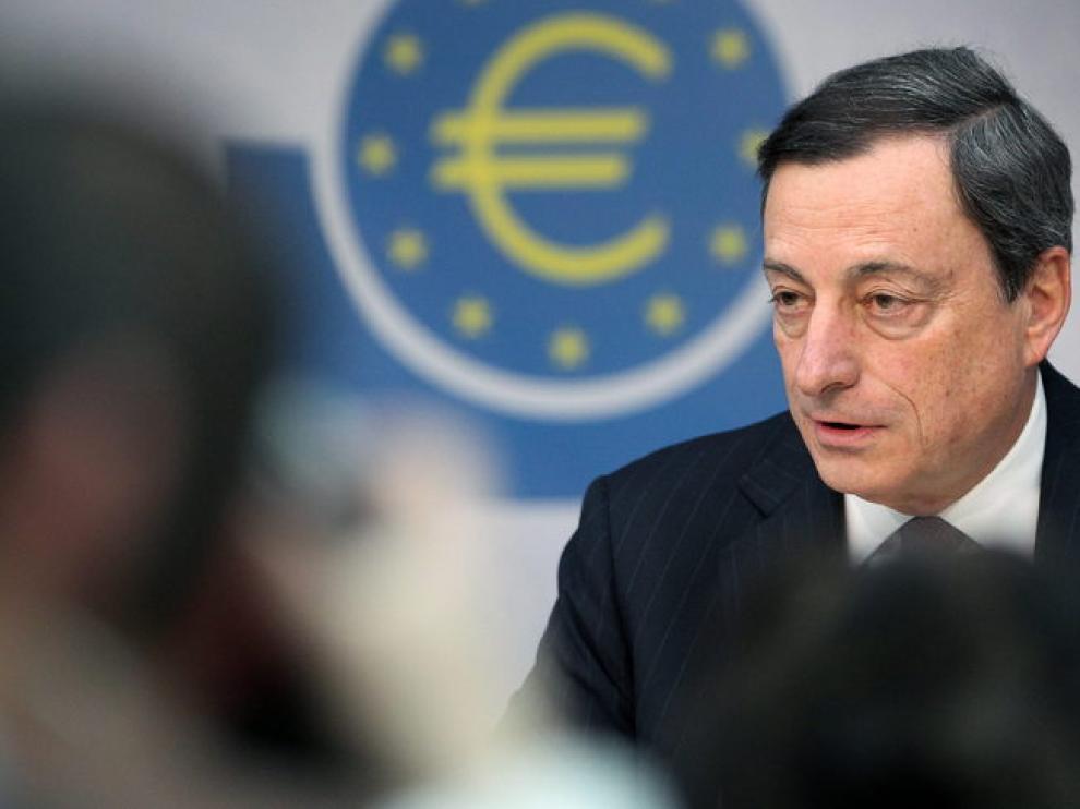 Mario Draghi, en rueda de prensa