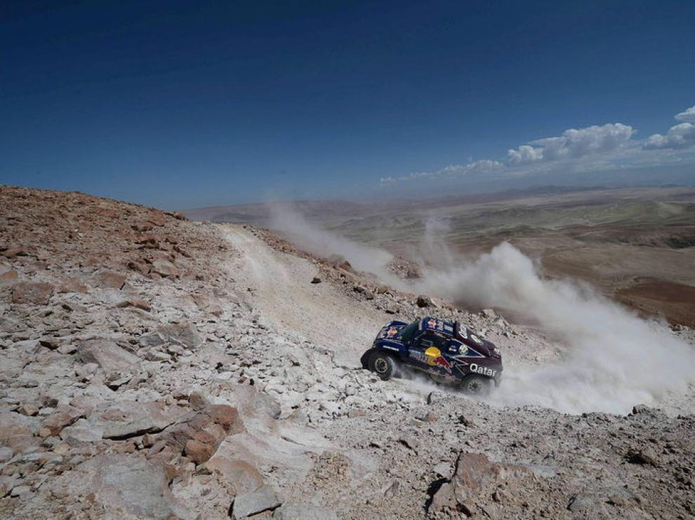 Carlos Sainz durante una etapa del Rally Dakar