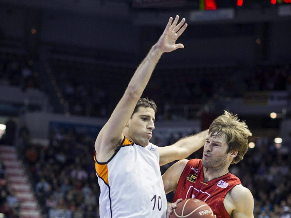 El jugador del CAI Zaragoza, Stefansson