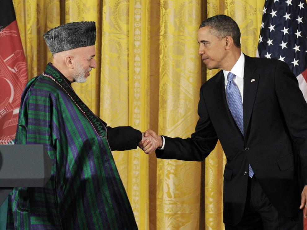 Obama y Karzai se reunieron este viernes